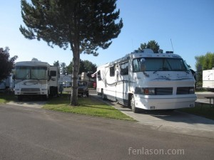 Our RV on left and my parents on right