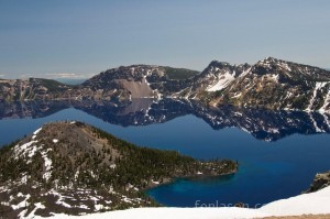Crater Lake - with Wizard Island