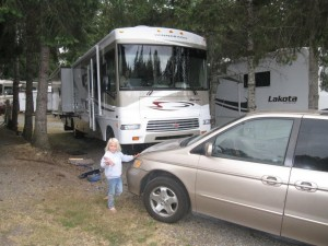 Our motorhome in the park