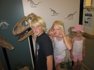 Kids in the visitor's center