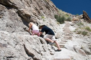 Looking for dinosaur fossils in Dinosaur National Monument