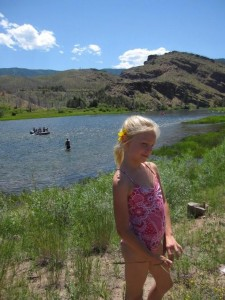 Carlye at the Green River, UT