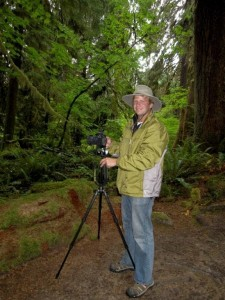 Taking pictures in the Hoh Rainforest - Olympic National Park