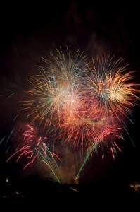 Fireworks in Bellevue Park