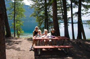 Picnic on McDonald Lake - Glacier National Park