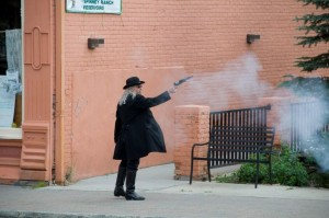 Street shootout in Leadville Colorado
