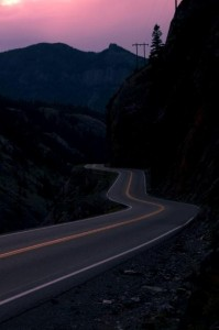 Million Dollar Highway at Night