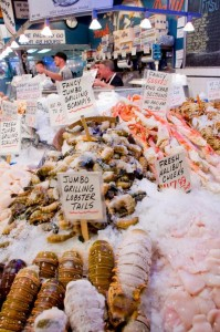 Seafood at Pikes Place Market