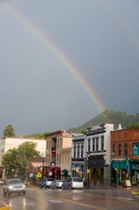 Rainbow at Manitou Springs Colorado