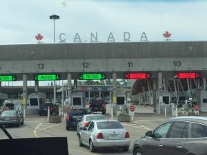 Entering Canada