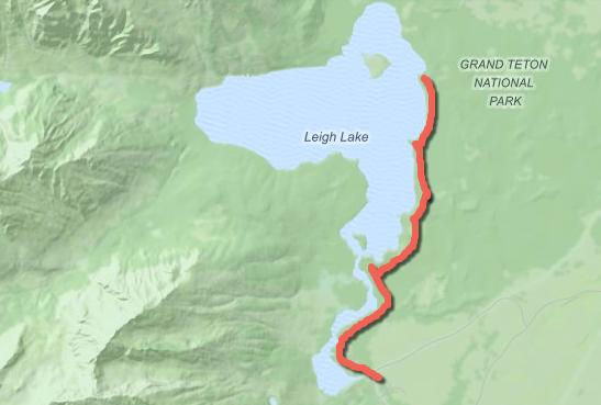 Leigh Lake Hike