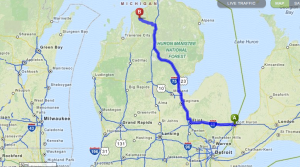 Map Port Huron to E Jordan